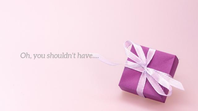プレゼントとお気遣いありがとうのメッセージ