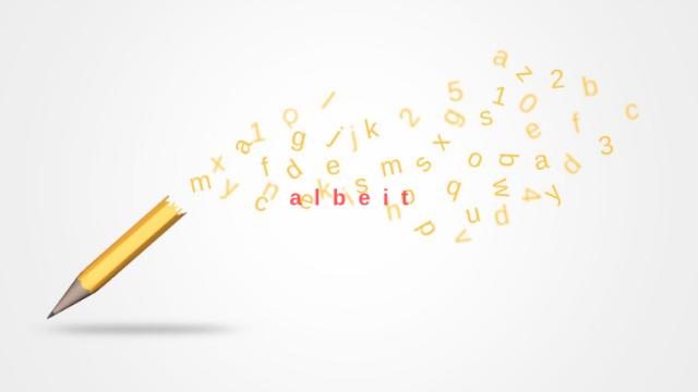 鉛筆とアルファベットのイラスト