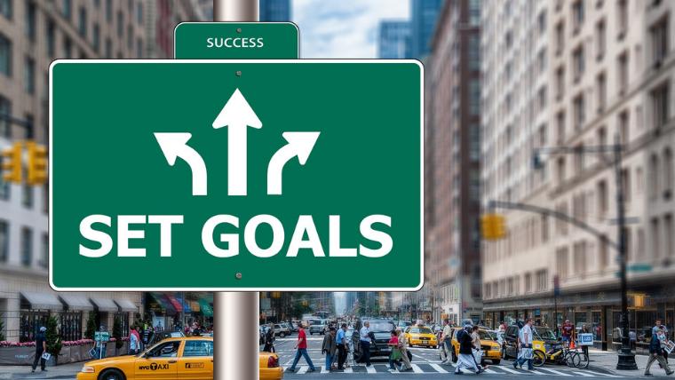 SET GOALSの道路標識